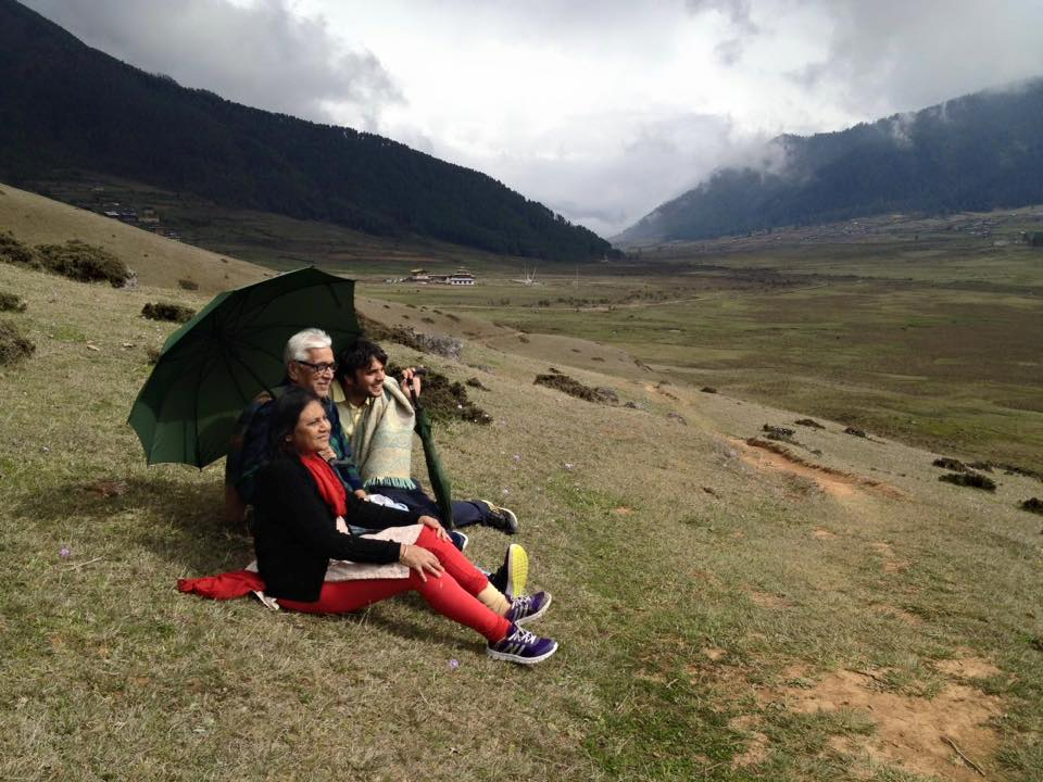 AWB's valued clients enjoying the stunning landscape of Gangtey Valley !