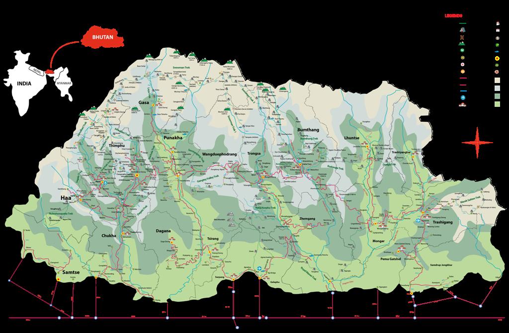 Bhutan-map