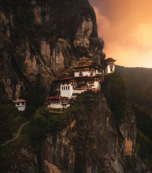 Paro Taktsang, is a sacred Vajrayana Himalayan Buddhist site located in the cliffside of the upper Paro valley in Bhutan.