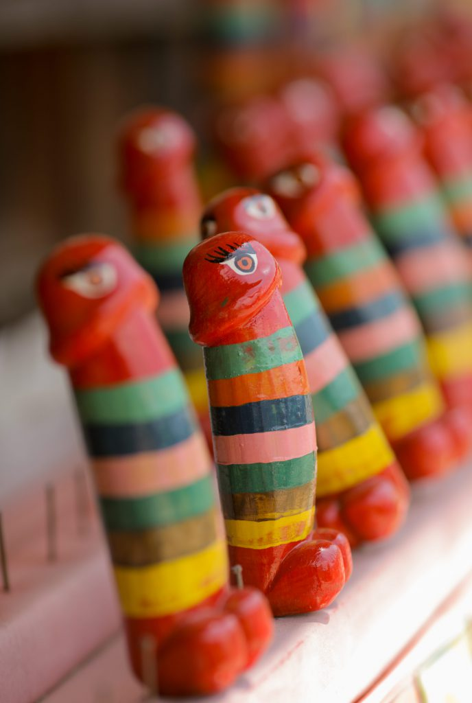 Phallus Art made of wood in Bhutan